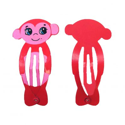 Lot de barrettes SINGE PINK