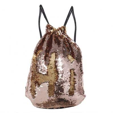 Sac à dos à sequin LIGHT PINK GOLD