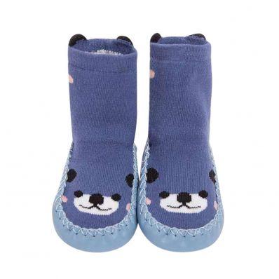 Chaussons-chaussettes hautes Ours C2BB - chaussons, chaussures, chaussettes pour bébé