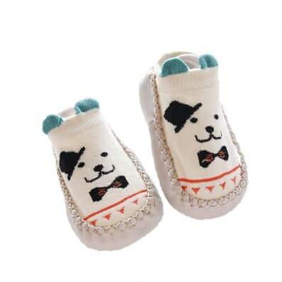 Chaussons-chaussettes basses Chien