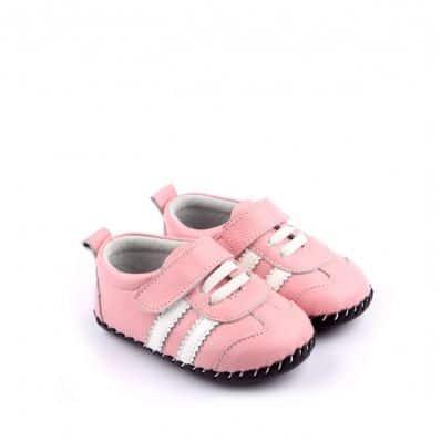 Chaussures premiers pas cuir souple baskets BANDES