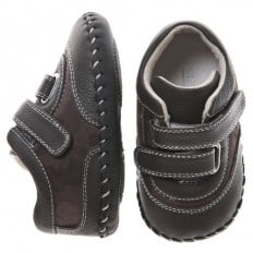 Little Blue Lamb - Baby boys first steps soft leather shoes | Military fashion sneakers