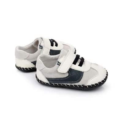 Chaussures premiers pas cuir souple baskets C2BB - chaussons, chaussures, chaussettes pour bébé