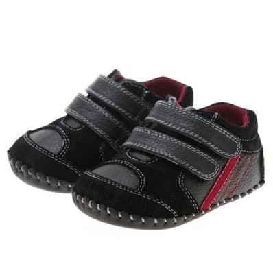 http://cdn1.chausson-de-bebe.com/998-thickbox_default/little-blue-lamb-baby-boys-first-steps-soft-leather-shoes-black-sneakers-with-red-strip.jpg